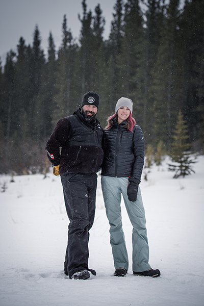 Jereme and Caitlin Arsenault - Snowy Owl Sled Dog Tours - winter trees