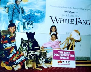 Connie Arsenault at a White Fang movie event
