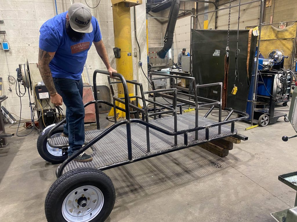 Snowy Owl Tours new Summer Adventure Dog Carts made by Aaron Machine Shop in Calgary, Alberta Canada